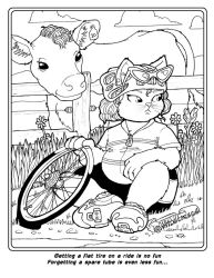 Coloring Book: Kat gets a flat by Barkon68