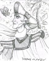 Frollo and a butterfly by Dracohoudini