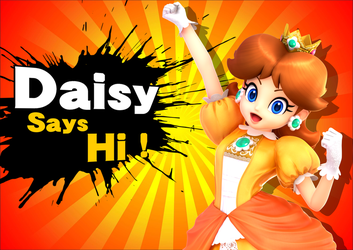 Super Smash Bros. : Daisy Says Hi ! by DaisyPotential