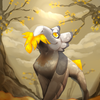Catching Leaves by KreoWolf