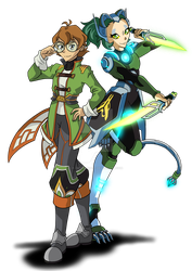 Voltron Xenoblade Chronicles 2: Pidge and Veridi by RoseThornArt