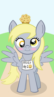 Derpy loves muffins... and hugs by AkakunDA