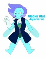 Glacier Blue Aquamarine by BlackStagBeetle