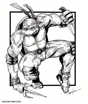 Raphael TMNT by GatlingInks