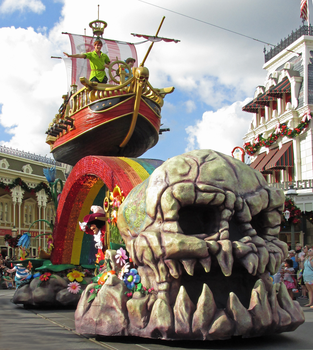 Skull Island and Pirate Ship IMG 2776 by WDWParksGal-Stock
