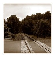 Tracks in Sepia by syrenemyst