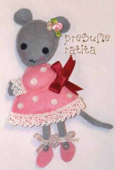 Ratita Presumida - Mouse Felt by geaspirito