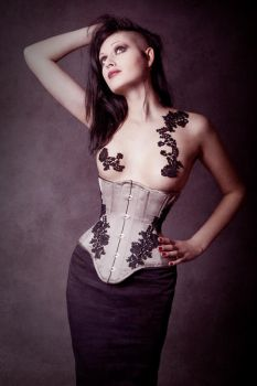 Underbust Corset 'Flora' by v-couture-boutique