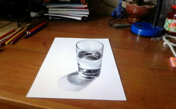 glass of water 3D by SanyLebedev