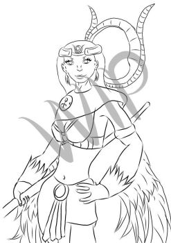Isis - Smite style Egyptian Goddess by Elkarouge