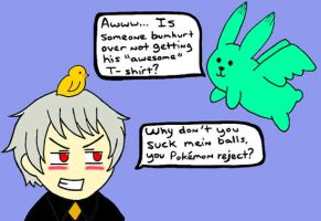 Prussia Vs Flying Mint Bunny by burstrondocg