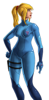 Metroid 25th--ZERO SUIT SAMUS by Green-Mamba