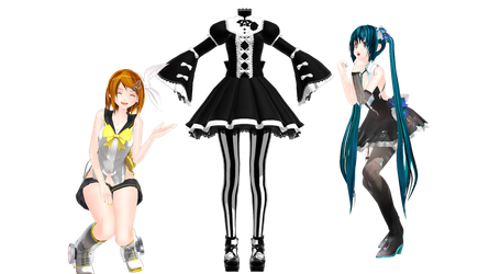 MMD Lolita Outfit Pack by Madpadpan