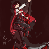 RWBY - Ruby Rose by Walmontreal