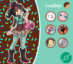 Disney Pokemon trainer : Vanellope by Pavlover
