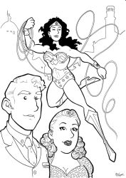 Silver Age Wonder Woman Trio Inks by BevisMusson