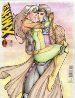 Gambit and Rogue Sketch Cover Colors by sorah-suhng