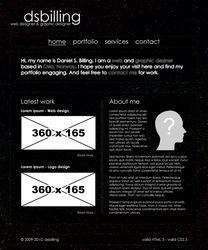 Space Web Design - WiP by dsbilling