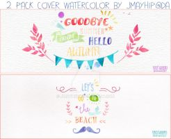 2 Pack Cover Typography Watercolor By Jmayhip@da by JmayhiP