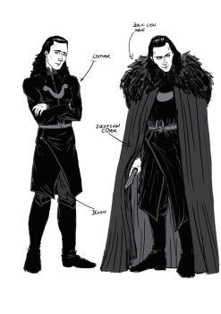 Study for Loki clothes for Lost Comic Book by Cris-Nicola