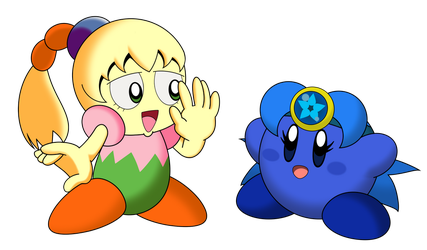 Kirby - Tiff and Hy by water-kirby