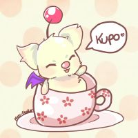 Mog in a teacup by Moo-feeler