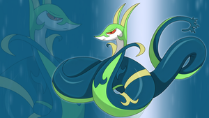 shiny Serperior wallpaper