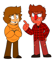 Beryl and Pyrope - Dennis and Wally by itsaaudraw