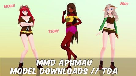 [MMD] TDA Aphmau Models + Download by TravisMMD