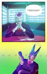 Freeza and Cell News Anchors (COMMISSION) by squarerootofdestiny