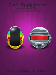 Daft Punk Super Icon Package by Svengraph
