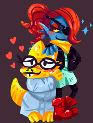 Undyne and Alphys by Agui-chan