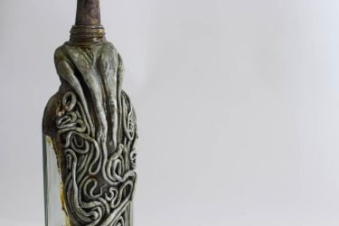 Lovecraftian Cthulhu Bottle by FraterOrion