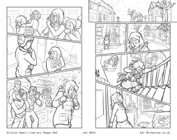 Silicon Heart Pages 2/3 Lineart by KatCardy