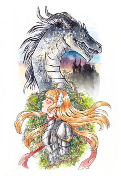 Dragon and Swan by Dunicakes