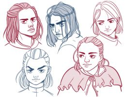 Arya sketches by Daaakota