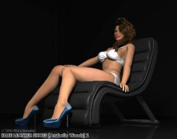 Blue Leather Shoes 2 - Anabelle Woods by MTLs-Imaging