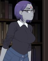 Raven: Cute Bookworm by ExMile