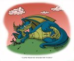 Playful Dragon Color by Hen-Hen