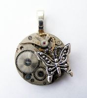 Butterfly Steampunk Pendant by Create-A-Pendant