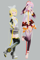 MMP - TDA's Rin and Luka by xCOLOURz