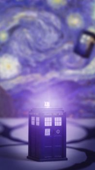 TARDIS phone wallpaper by avikantz