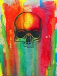 Colourful Skull Dripping by altsy