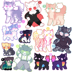 [OPEN 1/11] Assorted cats! [SET PRICE/OTA] by AdoptablesFarm