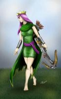 Clash of clans Archer queen art by freakattacke