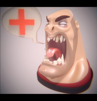 Heavy yelling Medic! by SdZLinko