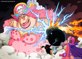 One Piece 870 - Luffy y Sanji vs Big Mom by Melonciutus