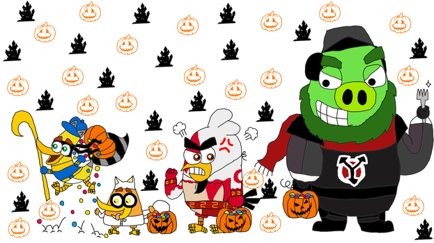 8 day before Halloween- Angry Birds Movie (Day 2) by Princess-Sackboy3659