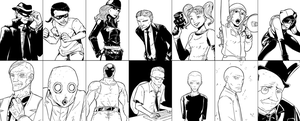 Batman - Noir style by Kibate