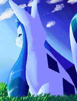 Painting: Shiny Glaceon by kanookies